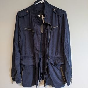 Max Jeans Navy Utility Jacket Size M